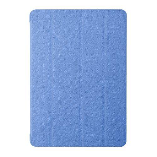 Preisvergleich Produktbild Ozaki O!Coat Slim-Y Versatile 360 Grad faltbare Tasche mit patentierter Standtechnik und On / Off Funktion für Apple iPad Air 2 blau