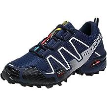Zapatillas Deporte Hombre Zapatos para Correr Athletic Cordones Air Cushion 3cm Running Sports Sneakers 39-