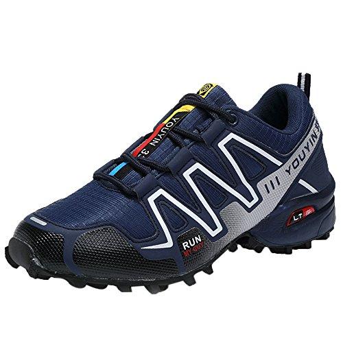 beautyjourney Scarpe Running Uomo Scarpe Uomo Sneakers Scarpe da Ginnastica Uomo Scarpe da Corsa Uomo Sportive Scarpe da Lavoro Uomo - Moda Uomo Scarpe da Ginnastica (41, Blu)