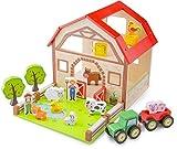 New Classic Toys - 10850 - Bauernhof Spielset - Holz