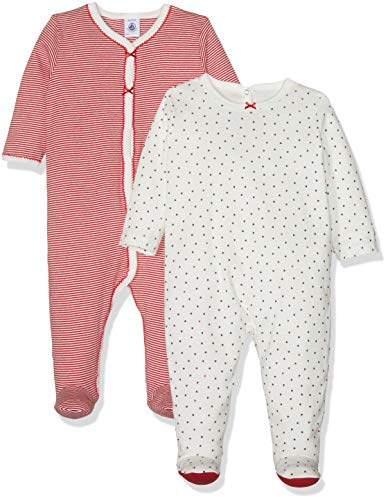 b3cbaa90 Petit Bateau Baby Girls' Barbichett Footies, Multicolour (Variante 1 00),  Newborn