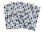 Infactory–Adhesivo para azulejos: etiqueta de adhesivo para azulejos de mosaico de 3d 'decente 26x 26cm, juego de 3(Your liese)