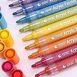 Recoproqfje 12/24 Farben Acryl Malerei Werkzeug für Kinder Farbige Zeichnung Becher Stoff Filzstift - 12 Farben