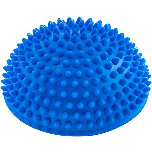 Bola de equilibrio »Igel«, para mejorar el equilibrio y la coordinación. Ideal para entrenar el equilibrio, 320 g, aprox. 8 cm de altura y 16 cm de diámetro / Azul