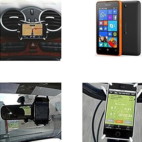 soporte para coche y para mesa etc. para Microsoft Lumia 430 Dual SIM, negro
