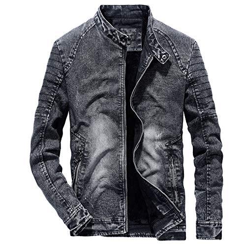 Your global store Abrigo para Hombre Chaqueta de Moto Denim Negro Ropa de Trabajo Hombre Chaqueta Outdoor Softshell Rain Man Turbo