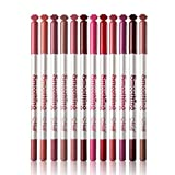 Newin Star Fodera labbra Lip Liner Matita Trucco Waterproof Lip Pencil 12 colori Cosmetici Matte Lip Liner Set (12pcs / set)