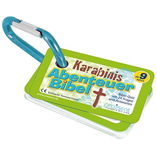 °* KARABINIS Mini-Spiele BIBEL-QUIZ GRÜN mit Spielanleitung