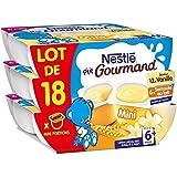 Nestlé p'tit gourmand vanille + semoule de lait lot 18x60g - ( Prix Unitaire ) - Envoi Rapide Et Soignée