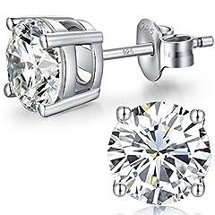 Idea Regalo - orecchini diamanti,orecchini zirconi argento,diamante orecchino uomo,orecchini con zirconi,orecchini donna con zirconi,orecchini uomo argento 8