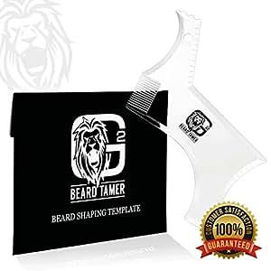 BEARD TAMER Beard Trimmer Shaping Tool Template. Innovative NEW DESIGN & TRANSPARENT beard shaper for easy use with clipper or razor. LIGHTWEIGHT & FLEXIBLE for easy handling. BONUS Beard Shaping User E-BOOK including over 15 BEARD STYLES TO CHOOSE FROM.
