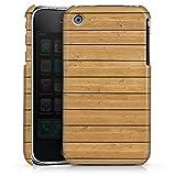 DeinDesign Apple iPhone 3Gs Coque Étui Housse Mur en Bois
