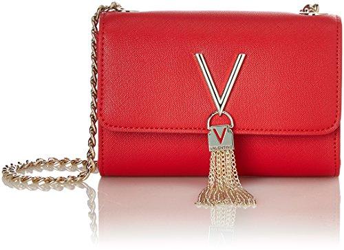Mario Valentino Valentino by Damen Divina Sa Clutch, Rot (Rosso), 4x11.5x17 cm (Logo Gucci Handtaschen)