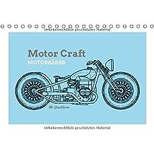 Motor Craft Motorräder (Tischkalender 2018 DIN A5 quer): Zeichnungen von Motorrädern (Drawing Bikes) (Monatskalender, 14 Seiten ) (CALVENDO Orte)