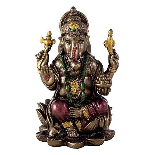 Ganesha-Statue, Ganesha, kaltgegossene Skulptur, Hindu-Gott, Pink