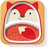 Skip Hop Baby Zoo Little Kid And Toddler Melamine Feeding Divided Plate, Multi, Fox