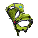 ThinkPet No Pull Breathable Sport Dog Harness - Reflective Padded Oxford Nylon Safety Adjustable Easy on and off Vest, Back/Front Clip Handle Outdoor and Training Small Medium Dogs(Small Green)