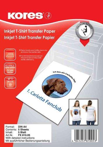 Kores T-Shirt Transferfolie, für dunkle Textilien