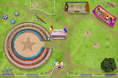 Zirkus Teppich | SM14 | Hochwertige Spiel-Matte für das Kinder-Zimmer | ideales Zubehör zu Spiel-Figuren von Schleich, Playmobil, Papo, Bullyland & Co | 150 x 100 cm | STIKKIPIX