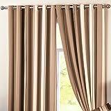 Dreams 'n' Drapes Whitworth Vorhänge mit Ösen, Textil, Natur, Curtains: 46