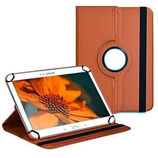 Premium Universal-Hülle für Tablet-PC Arnova 10 G2 10 ZOLL mit DREHFUNKTION und HALTER / STÄNDER-FUNKTION Schutz-Case Flip-Tasche Cover Braun