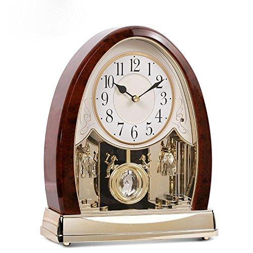 KHSKX Uhr Mode moderne Wohnzimmer Ideen Uhr Unterhaltungsmusik (Ideen Orange Kostüm Uhrwerk)