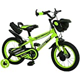 Ollmii Bikes, Creattor 14 inches Steel Rim (Green) BMX Series,Unisex, Kids Cycle for 3 to 5 Years