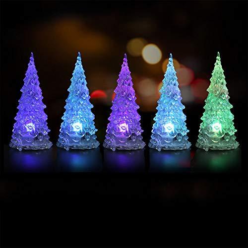 Preisvergleich Produktbild Gulin Weihnachtsbuntes Nachtlicht,  Weihnachtsbaum Form Licht,  Home Party Dekoration Ornament