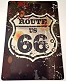 RETRO METAL WALL SIGN TIN PLAQUE VINTAGE LOUNGE ROUTE 66 AMERICA USA US ROAD TRIP by Harrington Marley