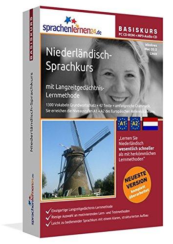 Preisvergleich Produktbild Sprachenlernen24.de Niederländisch-Basis-Sprachkurs: PC CD-ROM für Windows/Linux/Mac OS X + MP3-Audio-CD für MP3-Player. Niederländisch lernen für Anfänger
