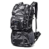 Mountaintop 40L sac à dos de randonée éthance/sac à dos loisirs/sac à dos sport avec couverture de pluie,20,1 x 13,8 x 6,3 pouces