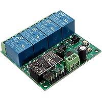 MYAMIA Interruptor De Control De Remoto De La Aplicación De Dc5V Esp8266 Cuatro Canales WiFi Relé Iot Casero Elegante Teléfono