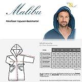 aqua-textil Malibu Bademantel mit Kapuze Damen Herren, super flauschig Fleece Saunamantel lang Größen XS bis XXXL