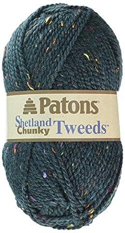 Spinrite Rich Teal Tweeds Shetland Chunky Yarn