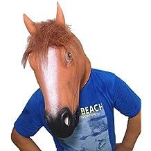 Maschera in lattice Brown animale testa di cavallo festa in costume per Halloween (cavallo Brown)