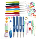 16 Size of Crochet Knitted Set 57 Pin Knitting Multicolor Crochet Hooks Needles Stitches Loom Yarn Tool for DIY Crafts Sewing