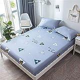 huyiming Utilizado para Cubierta de colchón de Cama de algodón Estampada Capucha Cubierta de Cama de algodón Perezoso 120 cm x 200 cm