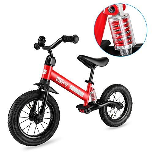 besrey Draisienne,Vélo d'équilibre. avec Cadre Antichoc et Pneus pneumatiques de 12 Pouces. Selle...