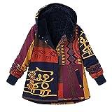TOPKEAL Jacke Mantel Damen Herbst Winter Warm Bedruckt Sweatshirt Steppjacke Lose Baumwolle Kapuzenjacke Hoodie Pullover Outwear Coats Tops Mode 2018