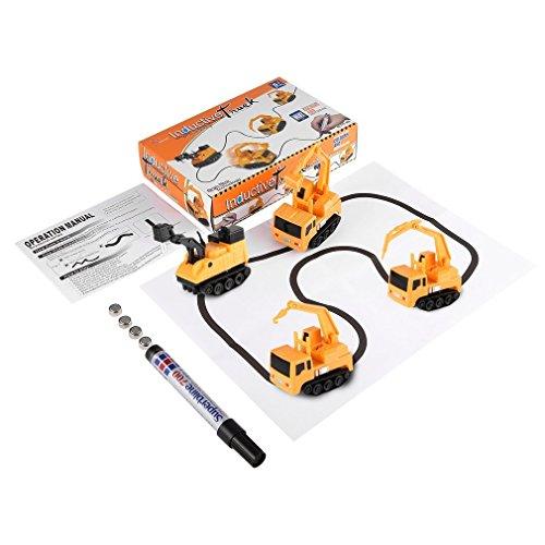 Folgen Sie gezeichnete Linie Magic Pen Automatische Induktive Spielzeug Auto Modell Serie für Kinder Kinder Spielzeug (Papier Modell Autos)