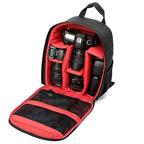 Fotorucksack Wasserdichter Kamera Rucksack Bequemer Rucksack für Kameras, Objektiv und Zubehör Rot