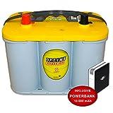 Optima Yellow Top YT S 4,2 - 12 V / 55 Ah - 765 A/EN Starterbatterie Versorgungsbatterie inkl. 10 Ah PowerBank