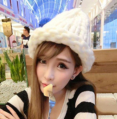 Chapeau Féminin Automne Hiver Loisirs Sauvage Hiver Tricotage Gardez Chaud Doux Beau Sertissage ( couleur : Dix# ) # 12