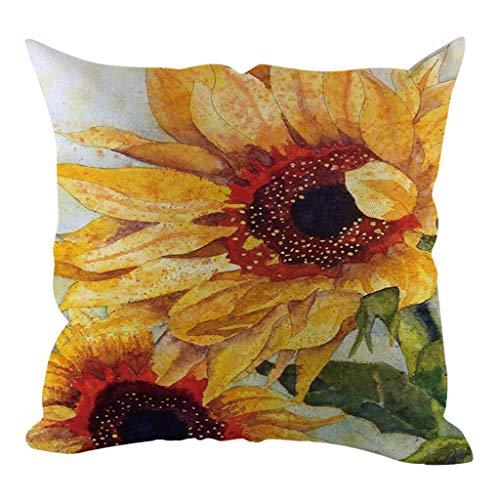 Nncande Sonnenblume Muster-Sammlung Kissen Kopfkissen Pillow Kissenhülle Kissenbezug ,Sonnenlicht ,Optimistisch ,Gute Laune ,Motiviert Jeden Tag,Zuhause Autozubehör Dekorative