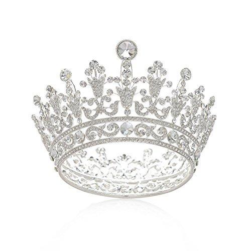 SWEETV Luxus Kristall Braut Kronen Strass Königin Tiara -