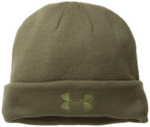 Under Armour Tactical Beanie Mütze Cold Gear, Olivgrün, One Size, UA1219736-O (Gestickte Haube)