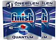 Finish Dishwasher Detergent Tablets, Quantum, 80 tabs (Pack of 2)