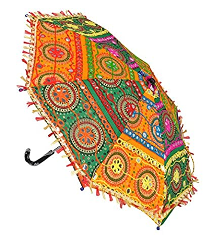 Indian Embroidered Party Wedding Umbrella For