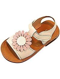 PAOLIAN Verano Zapatos Para Niña Princesa Calzado Zapatos de Niñito Antideslizante Suela Blanda Zapatos de Cordones Zapatillas Sandalias de Vestir de 6 Meses 12 Meses 1.5T 2T