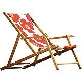 Jan Kurtz 492159_442011 Deckchair - Gestell Teak - Natur - Acryl